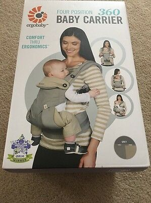 Ergo Baby Four Position 360 Carrier - GREY/TAUPE BRAND NEW IN UNOPENED BOX!