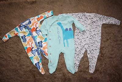 NEXT 3 x Baby Boy's Sleepsuits Age: Up To 3 Months