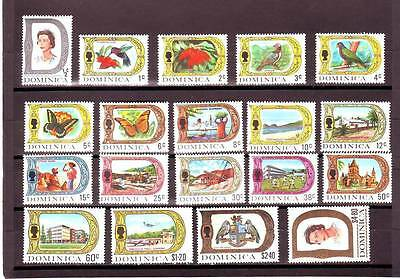 a127 - DOMINICA - SG272a-290 MNH 1969-72 DEFINITIVES 1/2c - $4.80 - FULL SET 19v