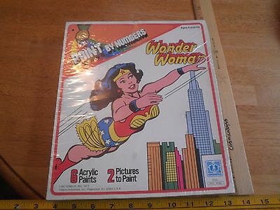 1977 Wonder Woman Paint by Numbers Set Hasbro MIB sealed DC comics Acrylic 2 pic