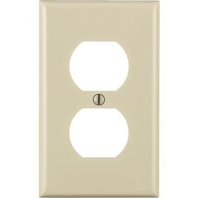 25 Pk Leviton Almond 1 Gang Nylon Double Outlet Wall Plate Cover 024-80703-ONT