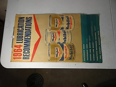 1964 Socony Mobil Oil Lubrication Recommendations Chart For All Transportation