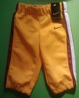 Nike Wine And Gold Baby Cleveland Cavaliers Cavs NBA Basketball Pants 6-9 Mo NEW
