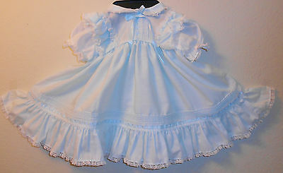 Vintage Baby Blue Childs Dress Size 9-12 Mos Toddl Tyke