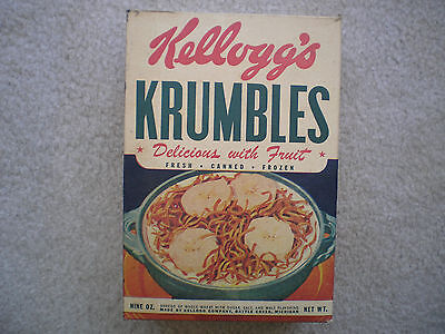 Kellogg's Krumbles Cereal Box 1946 Cut-Out Dolls