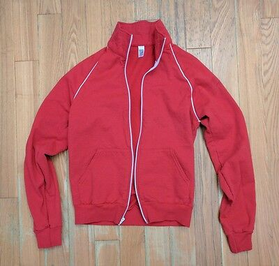 American Apparel Unisex Red Track Jacket Size Small S