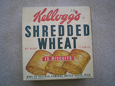 Kellogg's Shredded Wheat Cereal Box 1943 Complete