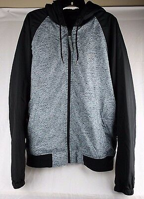 Hollister Size XL All-Weather Black/Grey Zip-Up Jacket