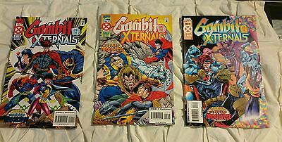 Gambit And The Xternals The Age Of Apocalypse # 1, 2, 3, comic book X-Men