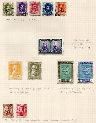 SPAIN = Various 1922/1930 MINT & USED on part original Album page. Unchecked