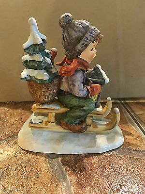 """Hard To Find! Large Size 5 1/2""""t Ride Into Christmas Hummel Figurine 396 1971"""