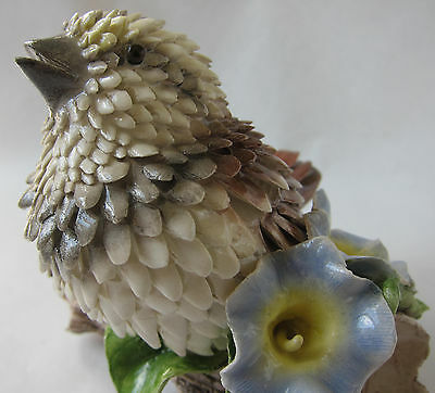 "VTG Hand Sculpted ""Birds of a Feather"" Sparrow Figurine Susan Markovic 1986"