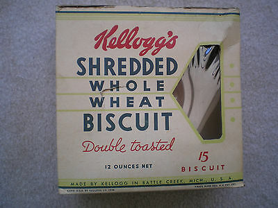 Kellogg's Shredded Whole Wheat Biscuit Cereal Box 1936 Complete