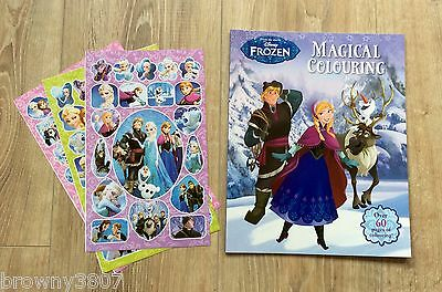 *NEW* Disney Frozen Colouring Book, Over 60 Pages + 1 Sheet of Frozen Stickers