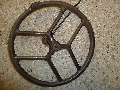 Antique Singer Treadle Sewing Machine Cast Iron Fly Wheel Steampunk 12 1/2""