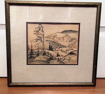 Canadian Art By Listed Artist Gordon Edward Pfeiffer (1899-1983) Ink On Paper