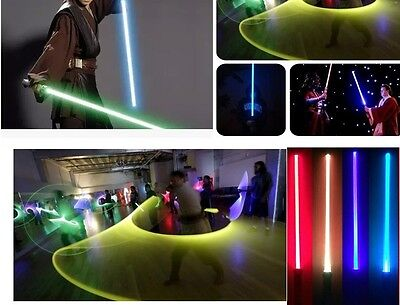 2 PCS/LOT Star Wars Lightsaber Led Flashing Light Sword Toys Cosplay Weapons QE