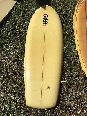 vintage old surfboard/kneeboard
