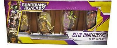 Guardians of the Galaxy Glasses (set of 4) by Marvel   -  New in Box
