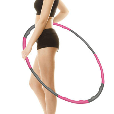 Weighted Hula Hoop Foam Padded Body Massage Waist Slim Fitness Exercise Gym YP