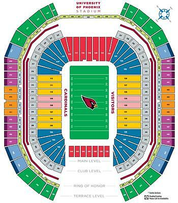 (2) Dallas Cowboys vs Arizona Cardinals Tickets *Sec 136 *Row 7*