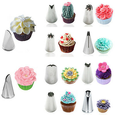 Diy Stainless Steel Russian Icing Piping Nozzles Pastry Cake Decor Tips Tools