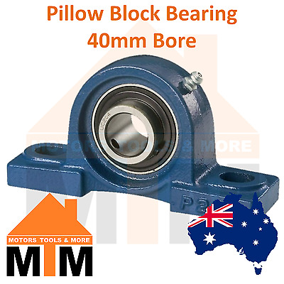 Pillow Block Bearing Self Aligning Bottom Foot Mount Housing 40mm Bore