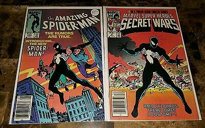 The Amazing Spider-Man #252 ==  Vf- 1St Appearance Of Black Spidey