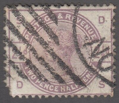 Great Britain SG #190  2 1/2d  lilac