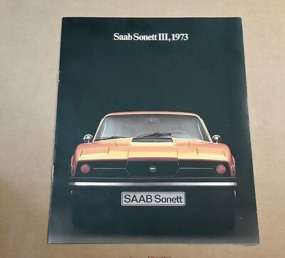 1973 Saab Sonett III Brochure  NR MINT better condition than all others on e-bay