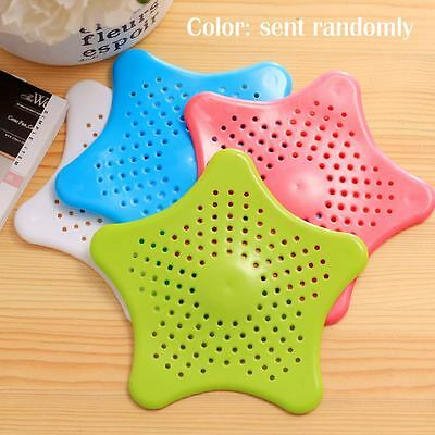 Star Drain Hair Stopper Cover Filter Silicone Sink Strainer for Bath Kitchen