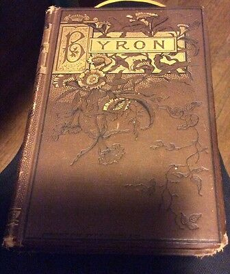 Antique Book The Poems and Dramas of Lord Byron & Biographical Memoir, 1884