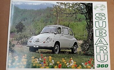 Subaru 360 Brochure Microcar Japan mint condition with dealer stamp hard to find