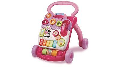 VTech First Step Baby Walker w/ Detachable Activity Panel, Easy-Grip, in Pink