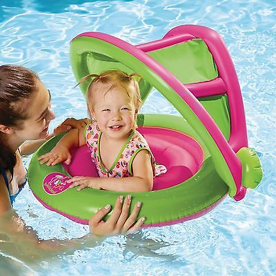 Circular Baby Boat Girls' 2-in-1 safety seat, sunshade. pool summer SwimSchool®