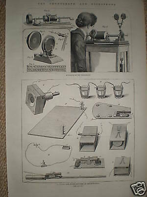 The Phonograph and Microphone 1878 print and article