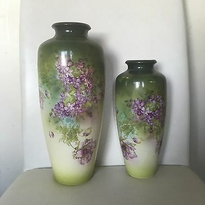 Lovely Pair Of Antique Victorian Vases