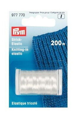 Prym Knitting In Elastic Clear Thread for Socks - 200m