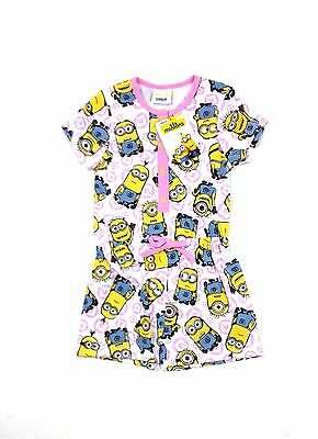 Minion Despicable Me Girls Summer Minions Shortie Playsuit Jumpsuit 2 - 10 Years
