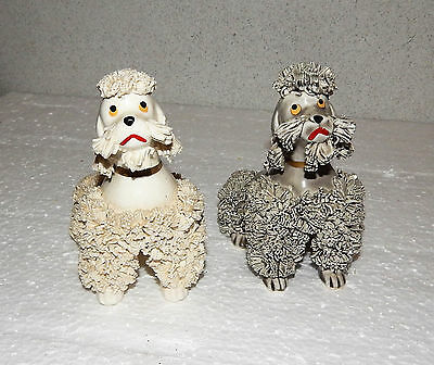 1950's 60's  Vintage Pair Spaghetti French Poodle Dog Figurine Japan