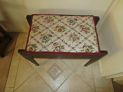 antique/vintage tapestry top piano stool