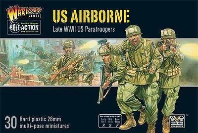 Warlord Games Bolt Action US WW2 Airborne 30 Figure Box Set 28mm Scale