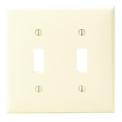 100 Pk Leviton Ivory Nylon Double Switch 2 Gang Wall Plate Cover 001-80709-00I