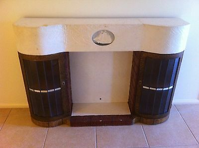 FIREPLACE CIRCA 1932 ART DECO FAUX  FINISH. Rare and hard to find.
