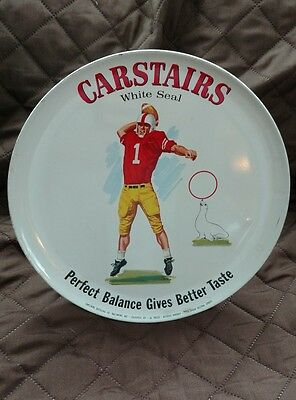 Vintage Carstairs White Seal Whiskey Football Advertising Display Sign Man Cave