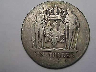 1799-A Silver German State Prussia Thaler.  #13