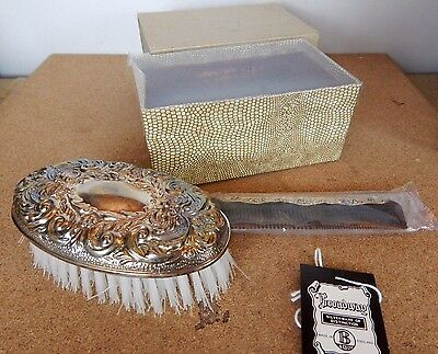 Vintage 1976 Broadway Silver brush and Comb set Hallmarked Birmingham 1976 NOS