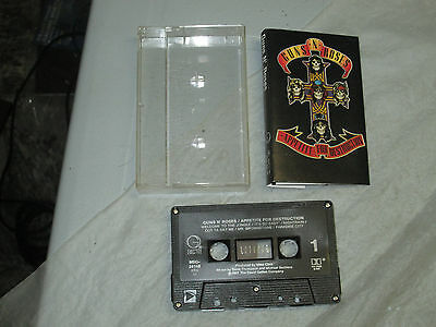 Guns N Roses - Appetite For Destruction (Cassette, Tape) WORKING Great Tested