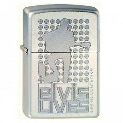 Zippo ELVIS LIVES High Polish Chrome Pocket Lighter Wind proof New With Box