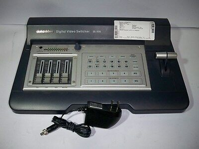 DataVideo Digital Video Switcher SE-500 w/AC Adapter TESTED&WORKING